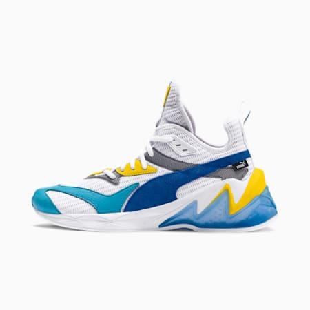 LQDCELL Origin Men's Shoes, Puma White-B Blue-Blz Yellow, small-SEA