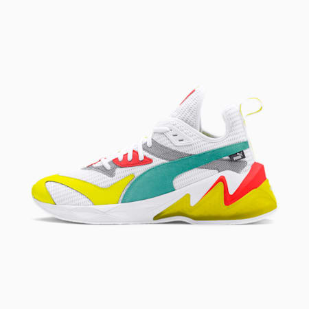 LQDCELL Origin Men's Training Shoes, Puma White-Yellow Alert, small