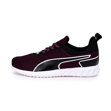 Concave Pro Women's Running Shoes, Plum Purple-Puma Black-White, small-IND