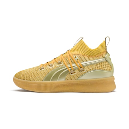 Zapatos de baloncesto Clyde Court Title Run, Metallic Gold, pequeño