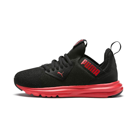 Enzo Beta Kids' Shoes, Puma Black-High Risk Red, small-IND