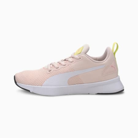 Flyer Runner Youth Trainers, Rosewater-Puma White-Sunny Lime-Peony-Puma Black, small-SEA