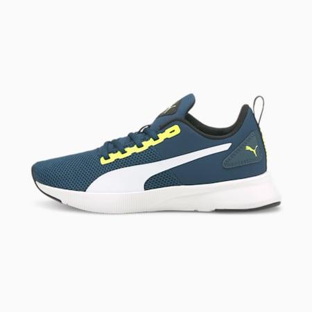 Flyer Runner SoftFoam Boys' Training Shoes, Intense Blue-Puma White-Nrgy Yellow, small-IND