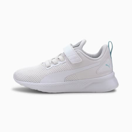 Flyer Runner V Kids' Trainers, White-High Rise-Gulf Stream-, small-SEA