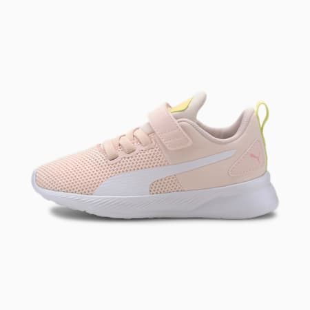 Flyer Runner V Kids' Trainers, Rosewater-White-S Lime-Peony, small-SEA