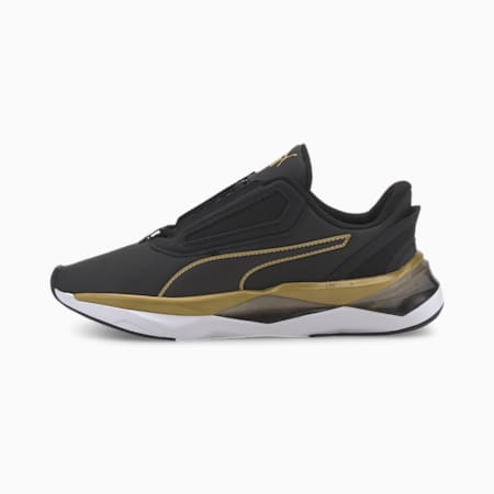 LQDCELL Shatter XT Matte Women's Training Shoes, Puma Black-Puma Team Gold, small