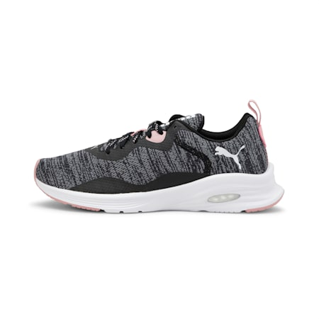 HYBRID Fuego Knit Women's Running Shoes, Puma Blck-Pma Wht-Bridal Rse, small-IND