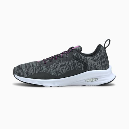 HYBRID Fuego Knit Women's Running Shoes, Puma Black-Luminous Pink, small-IND