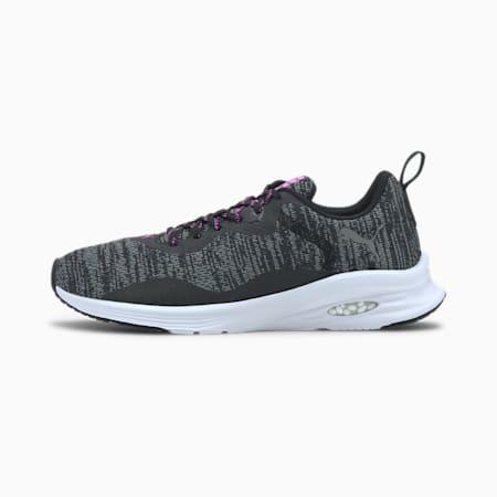 HYBRID Fuego Knit Women's Running Shoes, Puma Black-Luminous Pink, small-SEA