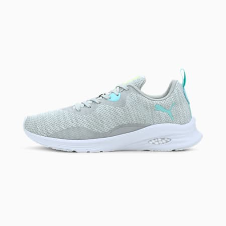 HYBRID Fuego Knit Women's Running Shoes, Gray Violet-ARUBA BLUE, small
