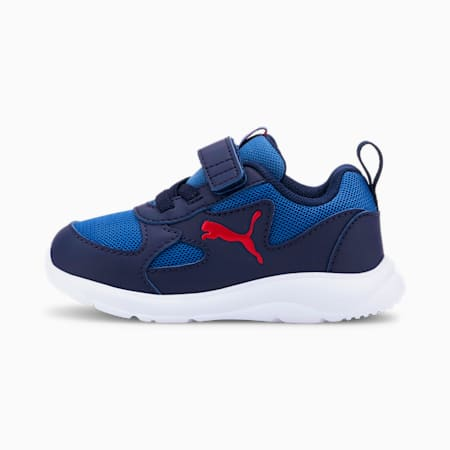 Fun Racer Babies' Trainers, Bright Cobalt-High Risk Red, small-SEA
