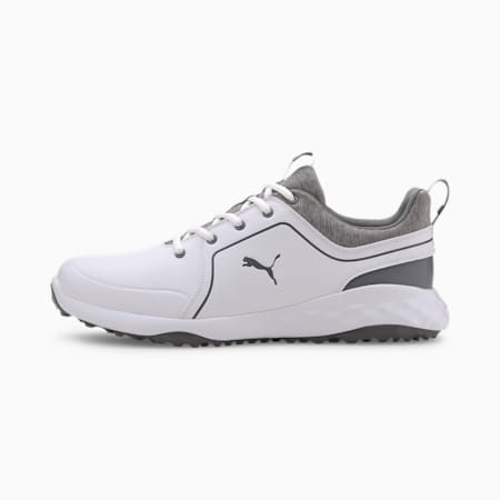 Caged IGNITE PWRADAPT Men's Golf Shoes, Puma White-QUIET SHADE, small