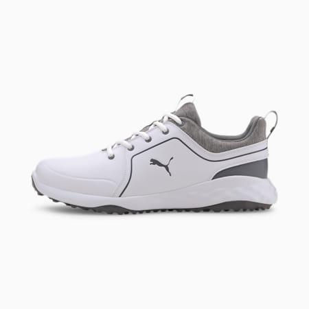 Obszyte męskie buty golfowe IGNITE PWRADAPT, Puma White-QUIET SHADE, small