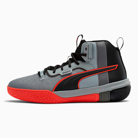 Legacy Disrupt Basketball Shoes, Puma Black-Red Blast, small