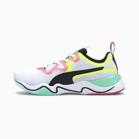 Zone XT Women's Training Shoes, Puma White-Puma Black-Yellow Alert, small-IND