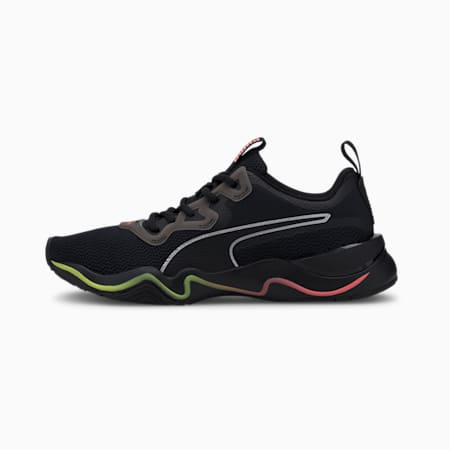 Scarpe running Zone XT donna, Puma Black-Ignite Pink-Silve, small