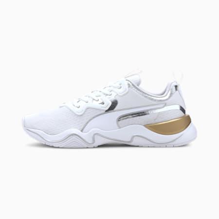 Zone XT Metal Women's Shoes, Puma White-Metallic Gold, small-IND