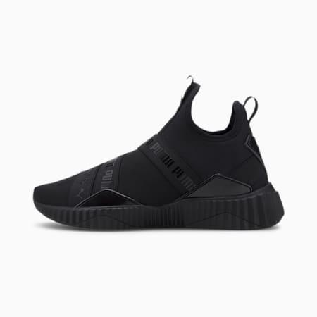 Defy Mid Glossy Women's Training Shoes, Puma Black, small-SEA