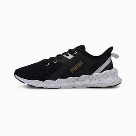 Weave XT Metal Women's Running Shoes, Puma Black-Metallic Gold, small-SEA