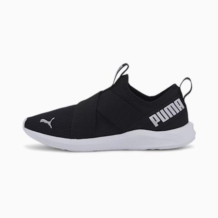 Prowl Slip On Women's Training Shoes, Puma Black-Metallic Silver, small