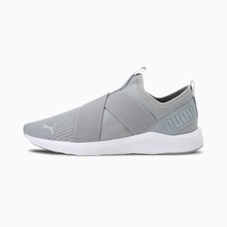 Prowl Women's Slip-On Training Shoes, High Rise-Puma White, small-IND