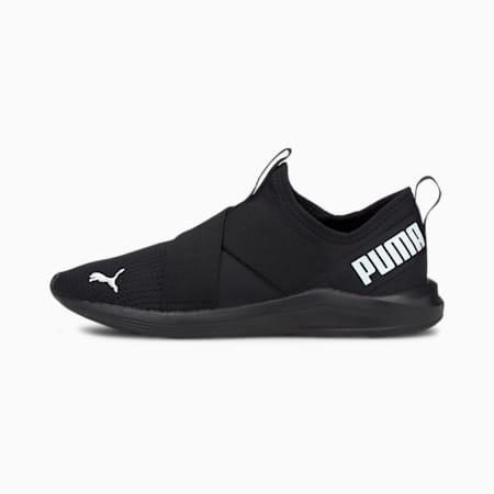 Prowl Women's Slip-On Training Shoes, Puma Black-Puma White-Puma Black, small-IND