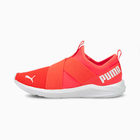 Prowl Women's Slip-On Training Shoes, Fiery Coral-Puma White, small-IND