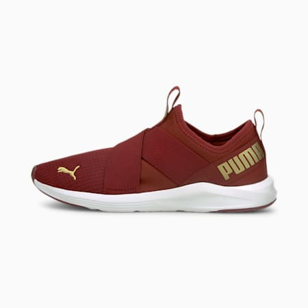 Prowl Women's Slip-On Training Shoes, Intense Red-Puma Team Gold, small-IND