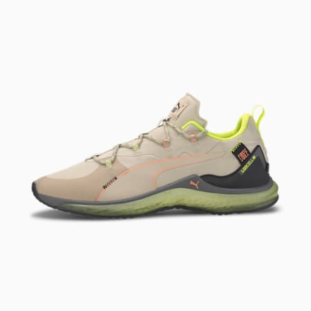 Zapatos de entrenamiento PUMA x FIRST MILE LQDCELL Hydra para hombre, Tapioca-Yellow Alert, pequeño
