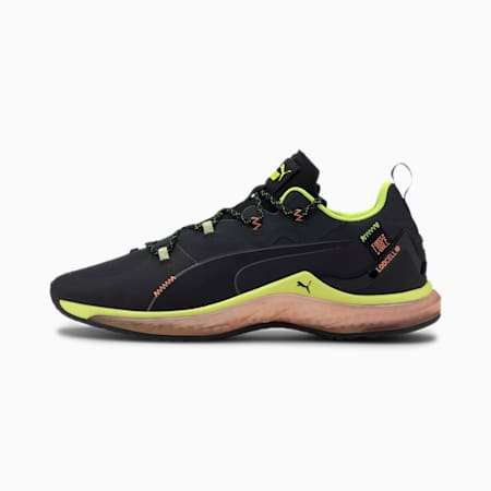 PUMA x FIRST MILE LQDCELL Hydra Men's Training Shoes, Black-Yellow-Orange, small-IND