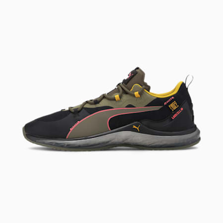 PUMA x FIRST MILE LQDCELL Hydra Camo Herren Trainingsschuhe, Burnt Olive-Puma Black-Pink, small