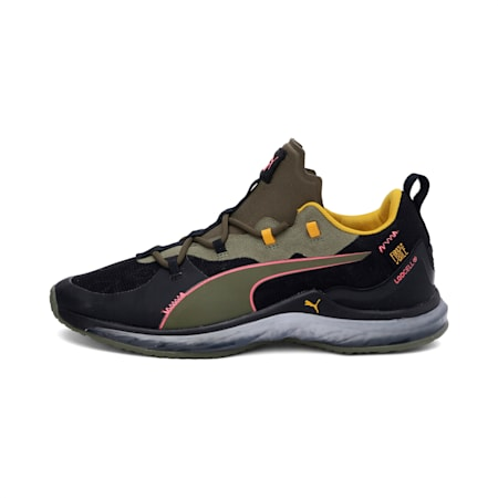 LQDCELL Hydra FM Camo Men's Training Shoes, Burnt Olive-Puma Black-Pink, small-IND