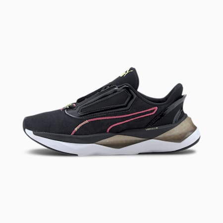PUMA x FIRST MILE LQDCELL Shatter Camo Damen Trainingsschuhe, Puma Black-Burnt Olive, small