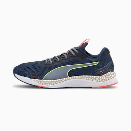 Speed 600 2 Men's Running Shoes, Dark Denim-Blue-Yellow, small-SEA