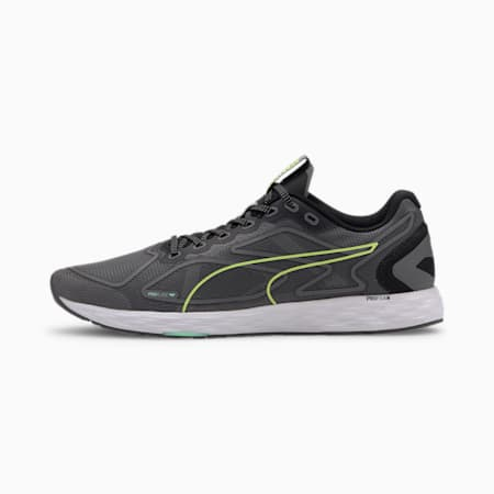 Speed 300 Racer 2 Men's Running Shoes, Black-Yellow Alert-White, small-IND