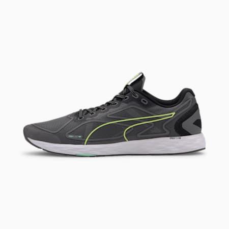 Speed 300 Racer 2 Men's Running Shoes, Black-Yellow Alert-White, small-SEA
