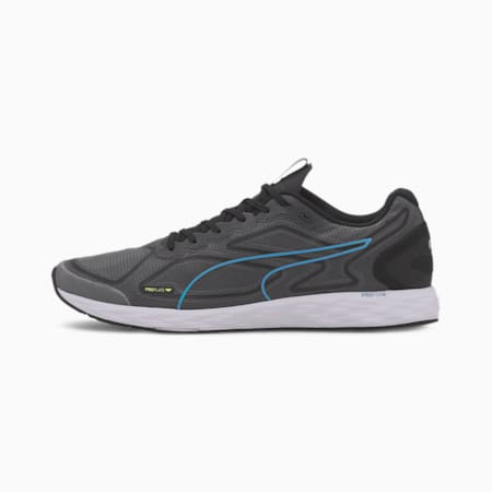Speed 300 Racer 2 Men's Running Shoes, Black-Nrgy Blue-Fizzy Yellow, small-IND