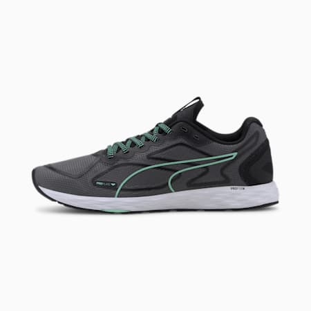 SPEED 300 RACER 2 Women's Running Shoes, Black-Green Glimmer-White, small-IND