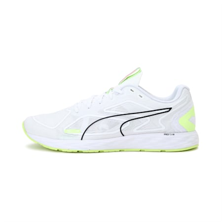 SPEED 300 RACER 2 Women's Running Shoes, White-Yellow-Black-Pink, small-IND