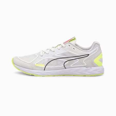 SPEED 300 RACER 2 Women's Running Shoes, White-Yellow-Black-Pink, small