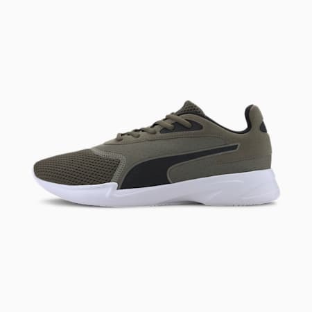 Jaro Men's Running Shoes, Burnt Olive-Puma Black, small-IND