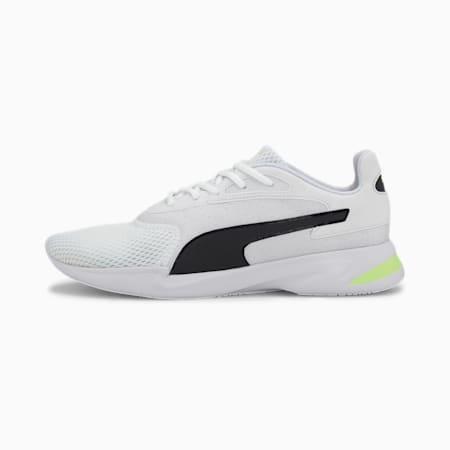 Jaro Herren Sneaker, White-Black-Yellow, small