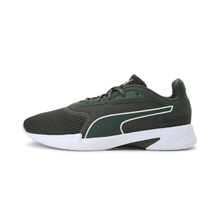 Jaro Men's Running Shoes, Puma White-Thyme, small-IND