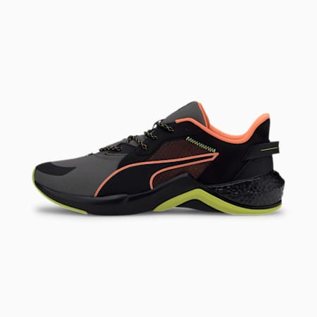 PUMA x FIRST MILE HYBRID NX Ozone Men's Running Shoes, Puma Black-Yellow Alert, small-IND