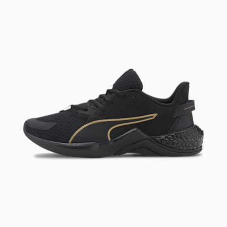 HYBRID NX Ozone hardloopschoenen voor dames, Puma Black-Gold, small