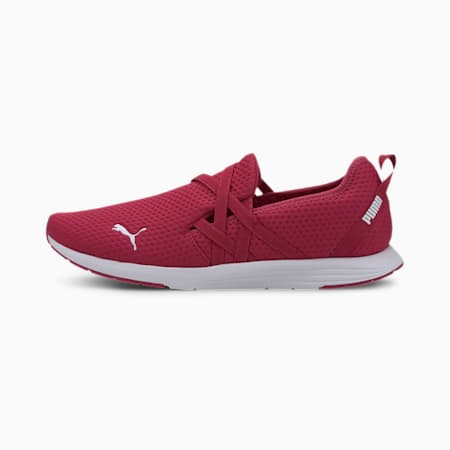 Ella Ballet Women's Slip-On Shoes, BRIGHT ROSE-Puma White, small