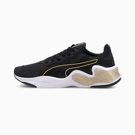 CELL Magma Women's Running Shoes, Puma Black-Puma White-Gold, small-IND