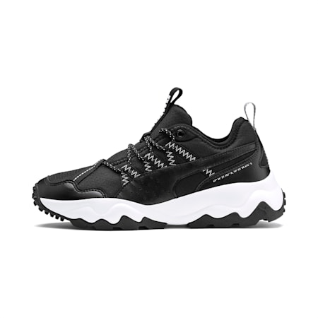 Ember Women's Trail Running Shoes, Black-White-Metallic Silver, small