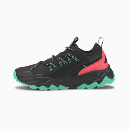 Ember Trail Women's Running Shoes, Black-Ignite Pink-Green, small