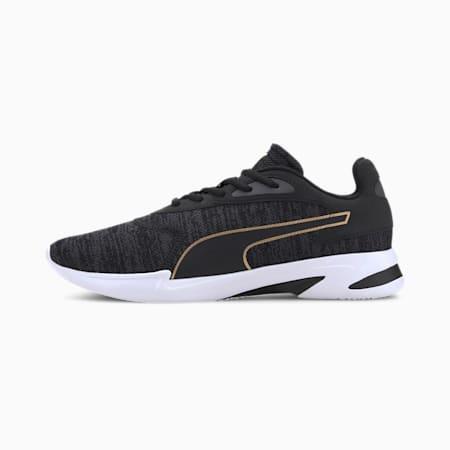 Jaro Knit Men's Running Shoes, Puma Black-Asphalt-Team Gold, small-IND